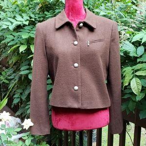 Apostrophe Brown Wool Blend Jacket Size 8